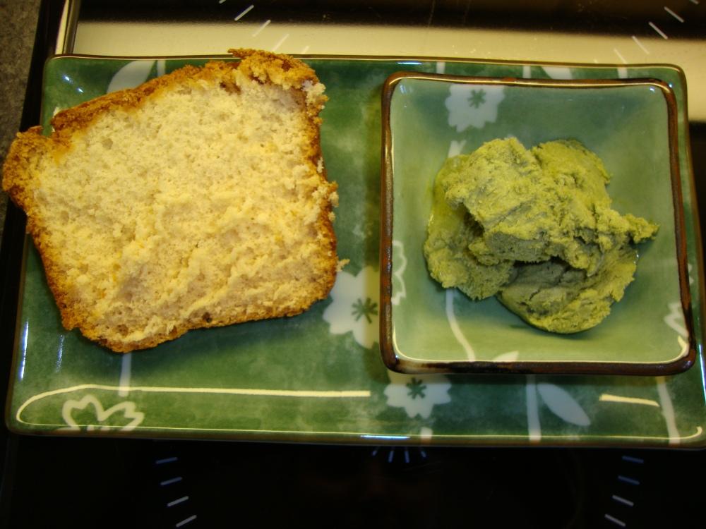 Kasutera und Matcha-Buttermilch-Eis (1/6)
