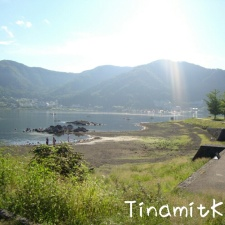 Morgensonne am Lake Kawaguchi